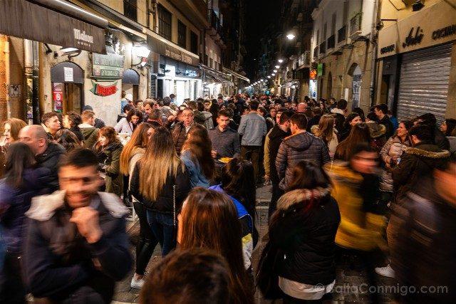 Comer en Pamplona Juevintxo Calle Estafeta