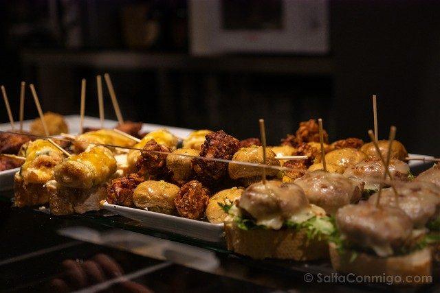 Comer en Pamplona Pinchos