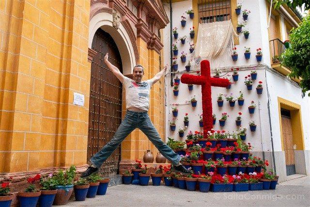 Cruces de Mayo en Cordoba Hermandad Socorro Salto