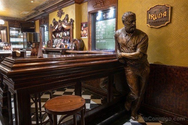 Que ver en Pamplona Cafe Iruna Hemingway