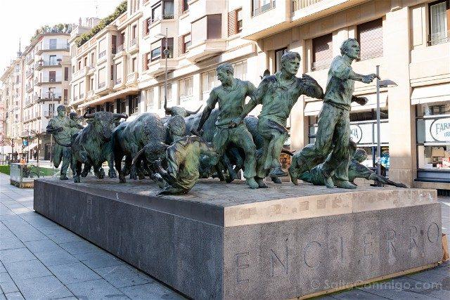 Que ver en Pamplona Encierro Monumento