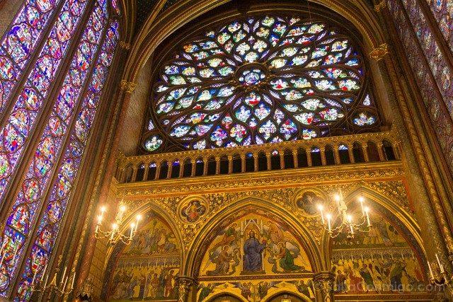 Sainte-Chapelle de Paris Capilla Superior Roseton