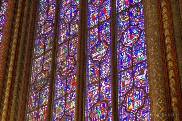 Sainte-Chapelle de Paris Capilla Superior Vidriera Detalle