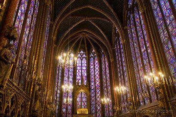 Sainte Chapelle de Paris Capilla Superior Vitrales Abside