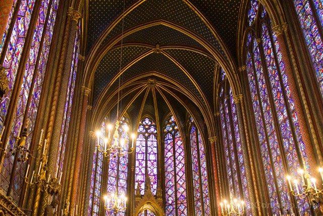 Sainte-Chapelle de Paris Capilla Superior Vitrales