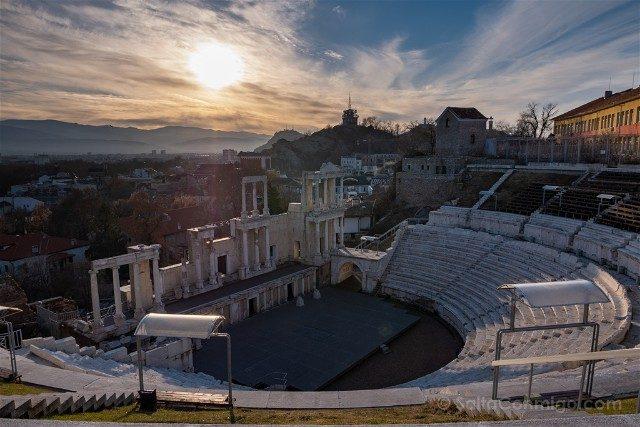 Viajar a Bulgaria Plovdiv Teatro Romano