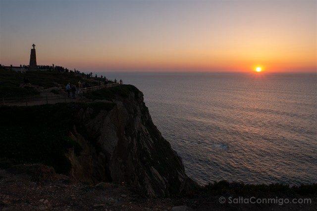 Que ver en Cascais Portugal Cabo Roca Puesta Sol