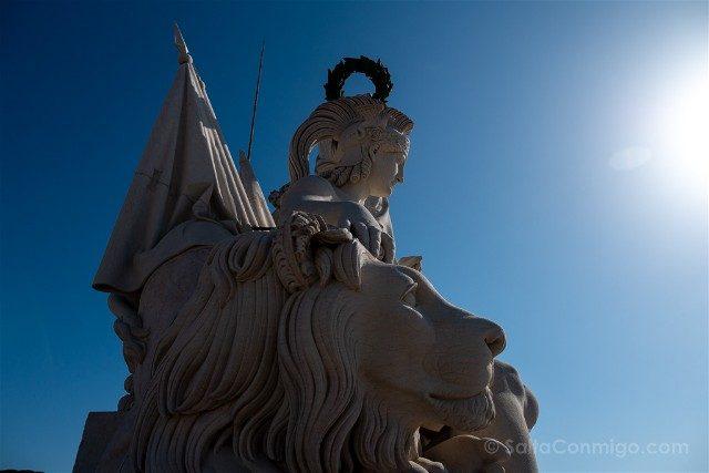 Que ver en Lisboa Arco Rua Augusta Estatuas