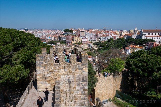 Que ver en Lisboa Castillo San Jorge Murallas