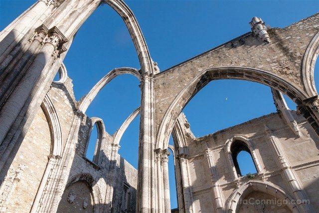 Que ver en Lisboa Convento do Camo Techo