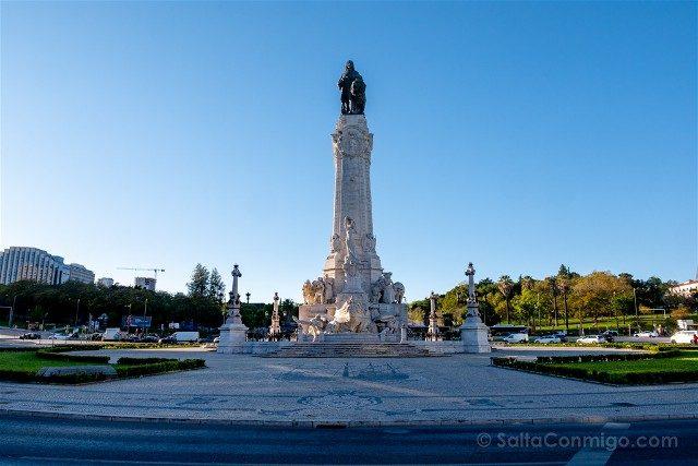 Que ver en Lisboa Plaza Marques Pombal