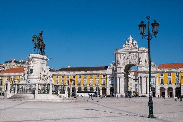 Que ver en Lisboa Praca do Comercio Farola