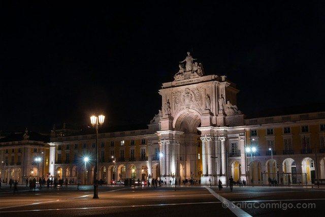 Que ver en Lisboa Praca do Comercio Noche