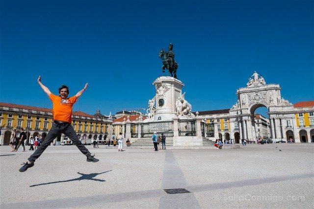 Que ver en Lisboa Praca do Comercio Salto