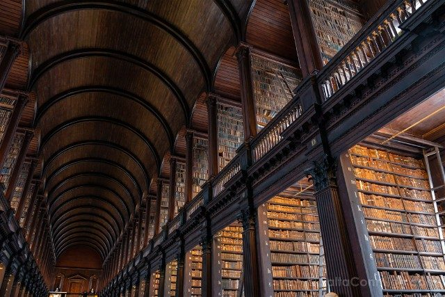 Trinity College Dublin Biblioteca Long Room Techo
