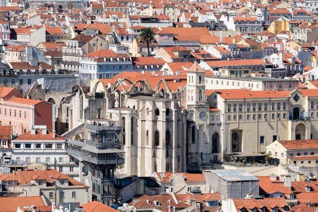 Miradores En Lisboa Castillo San Jorge Mirador Santa Justa