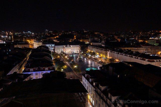 Miradores En Lisboa Mirador Santa Justa Noche