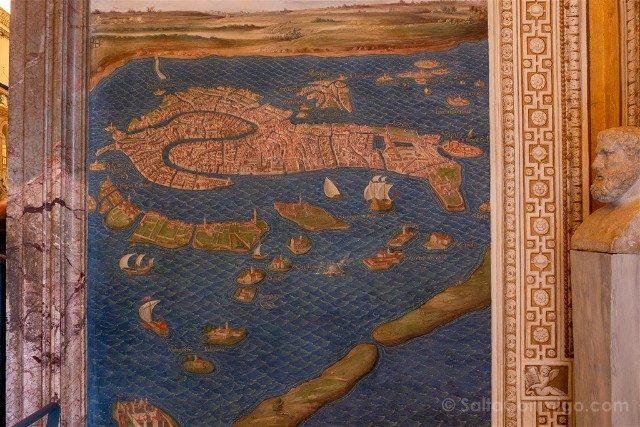 Museos Vaticanos Galeria Mapas Venecia