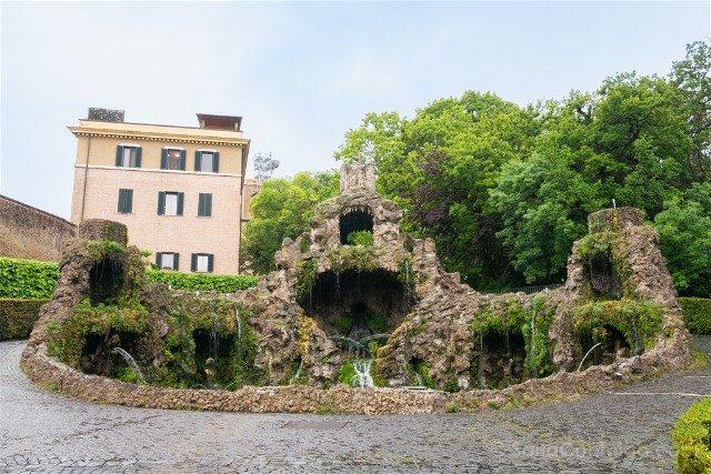 Museos Vaticanos Jardines Fuente
