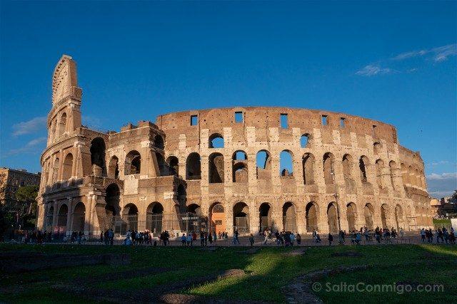Que ver en Roma en 3 días Coliseo Atardecer