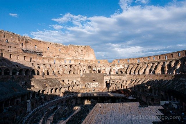 Que ver en Roma en 3 días Coliseo Interior