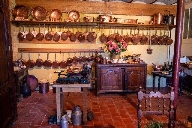 Castillo de Montpoupon Cocina Cobre
