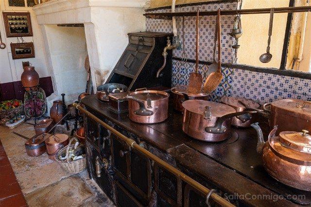 Castillo de Montpoupon Cocina Horno