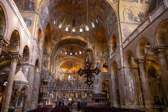 Iglesias de Venecia Basilica San Marco Nave Central