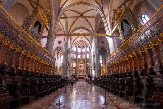 Iglesias de Venecia Basilica Santa Maria Gloriosa Frari Coro