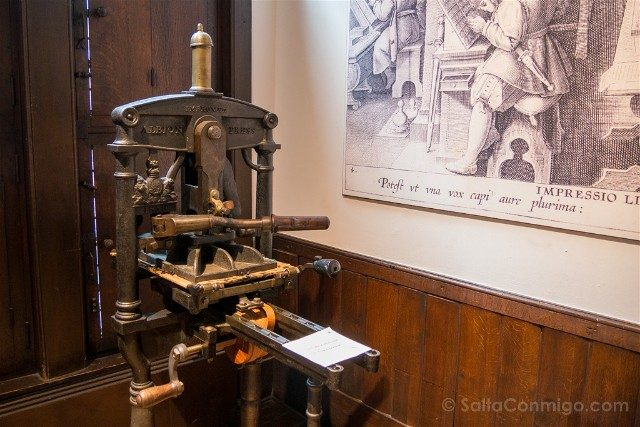 Museo Plantin-Moretus Amberes Prensa Imprenta