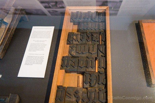 Museo Plantin-Moretus Amberes Tipos Letra