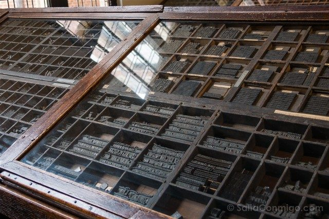 Museo Plantin-Moretus Amberes Tipos Moviles