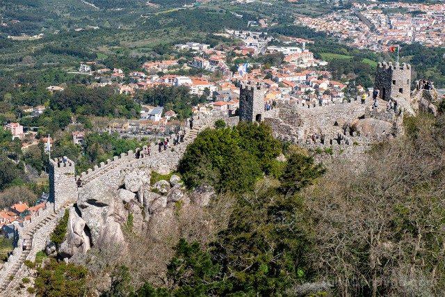 Que ver en Sintra Portugal Castillo Moros Muralla