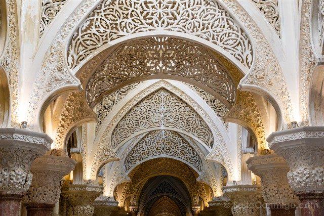 Que ver en Sintra Portugal Palacio Montserrate Arcos Moriscos