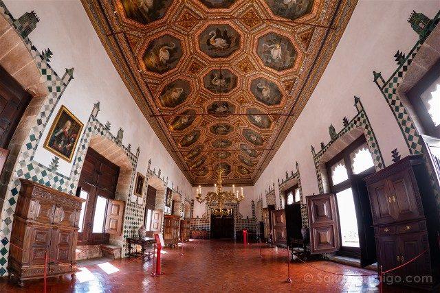 Que ver en Sintra Portugal Palacio Real Sala Cisnes