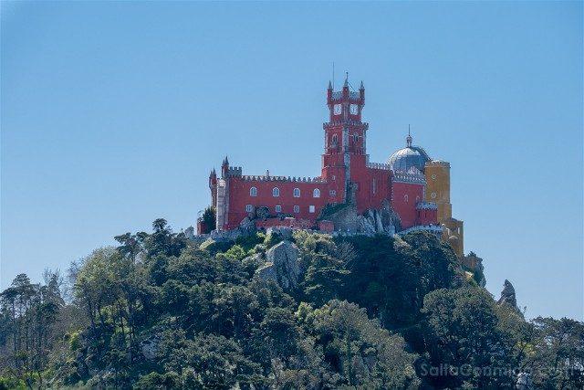 Que ver en Sintra Portugal Palacio da Pena Desde Castillo Moros