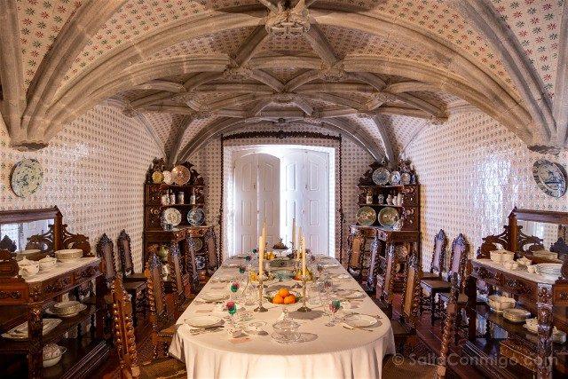 Que ver en Sintra Portugal Palacio da Pena Interior Comedor