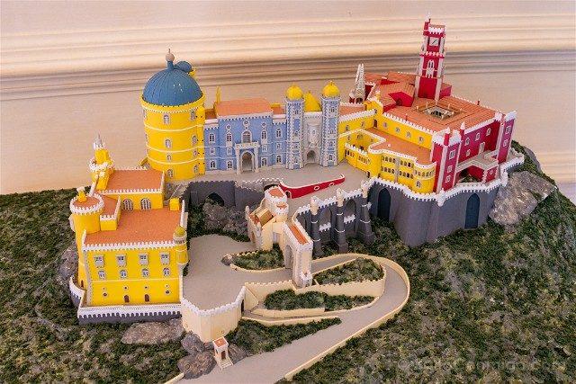 Que ver en Sintra Portugal Palacio da Pena Maqueta