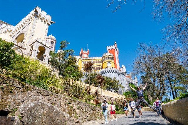 Que ver en Sintra Portugal Palacio da Pena Salto