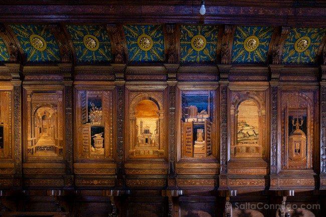 Ruta por la Toscana Abadia Monte Oliveto Maggiore Coro