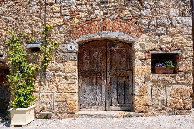 Ruta por la Toscana Monteriggioni Puerta