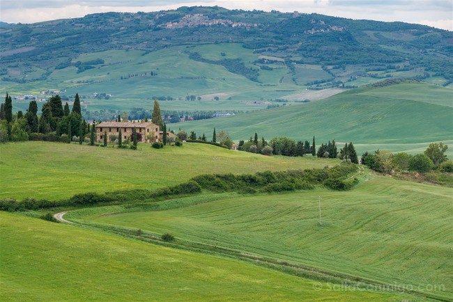 Ruta por la Toscana Monticchiello Paisaje Casa Campo