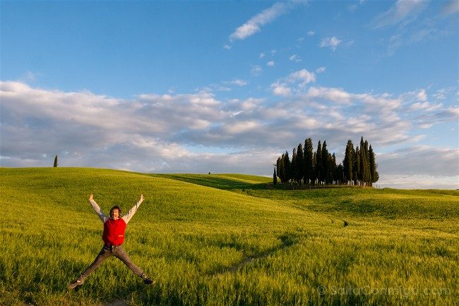 Ruta por la Toscana Paisaje Cipres Salto
