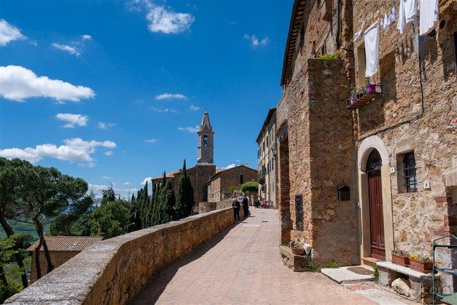 Ruta por la Toscana Pienza Via Castello
