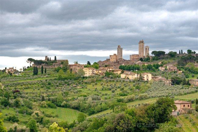 Ruta por la Toscana Vista San Gimignano Certaldo