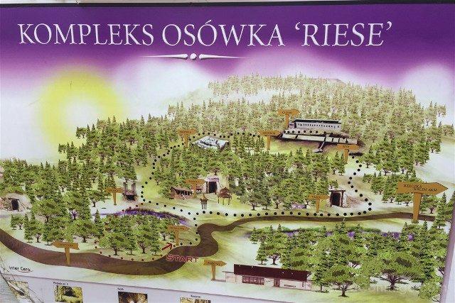 Tuneles Nazi Polonia Complejo Osowka Mapa