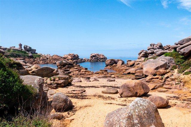 Costa de Granito Rosa Bretana Ploumanac'h Sentier Douaniers Caos Playa