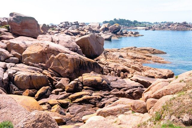 Costa de Granito Rosa Bretana Ploumanach Sentier Douaniers Caos