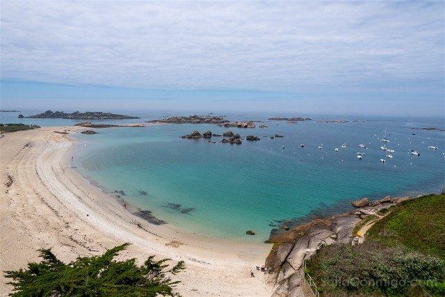 Costa de Granito Rosa Bretana Tregastel Playa Greve Blanche Mirador