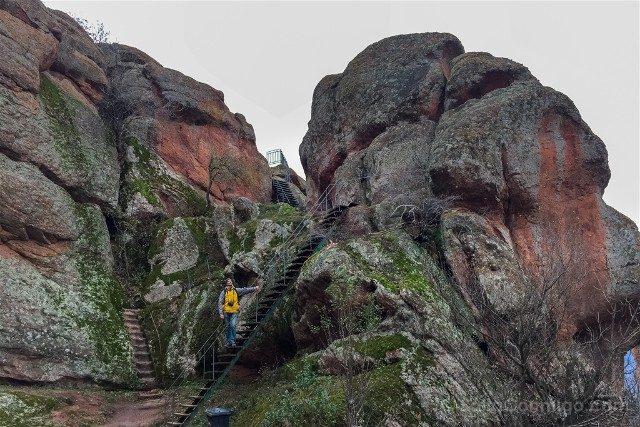 Fortaleza de Belogradchik Bulgaria Escaleras